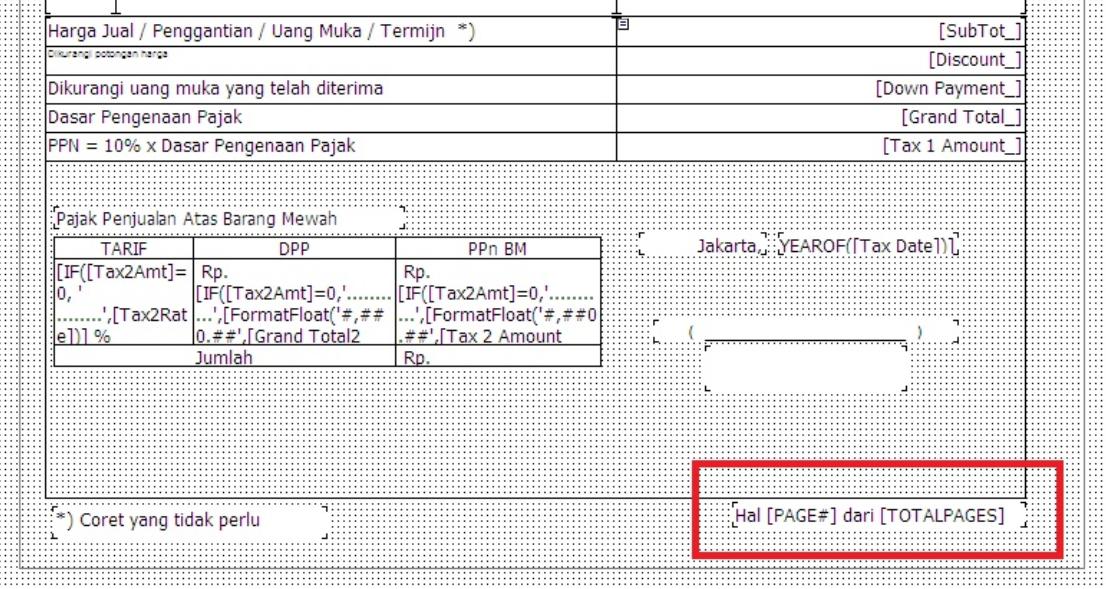 rumus halaman invoice vat